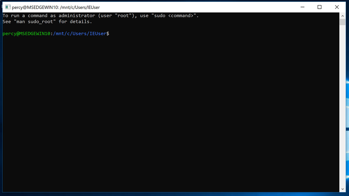 Bash.exe for WSL in Windows 10
